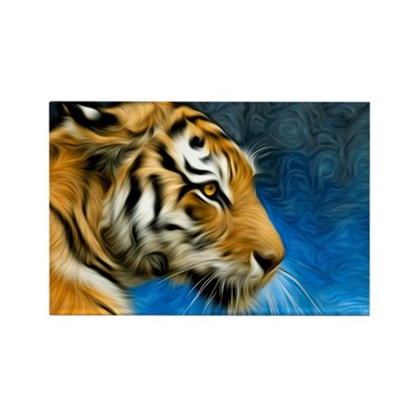 Tiger Art Painting Rectangle Magnet (100 pack)