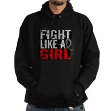 Fight Like a Girl 31.8 Brain Tumor Hoodie