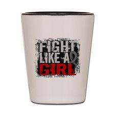 Fight Like a Girl 31.8 Brain Tumor Shot Glass