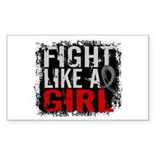 Fight Like a Girl 31.8 Brain Tumor Decal