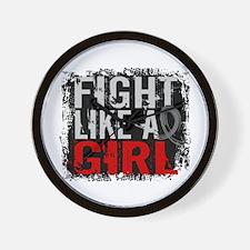 Fight Like a Girl 31.8 Brain Tumor Wall Clock