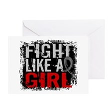 Fight Like a Girl 31.8 Brain Tumor Greeting Card