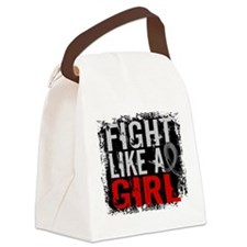 Fight Like a Girl 31.8 Brain Tumor Canvas Lunch Ba