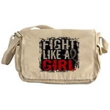 Fight Like a Girl 31.8 Brain Tumor Messenger Bag