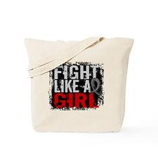 Fight Like a Girl 31.8 Brain Tumor Tote Bag