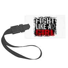 Fight Like a Girl 31.8 Brain Tumor Luggage Tag