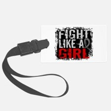 Fight Like a Girl 31.8 Brain Tumor Luggage Tag