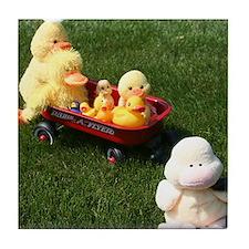 Ducky Flyer Tile Coaster