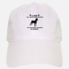 Miniature Pinscher Dog Breed Designs Baseball Baseball Cap