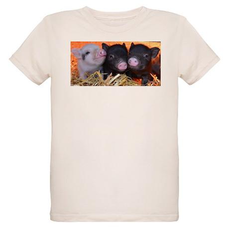 3 little micro pigs Organic Kids T-Shirt