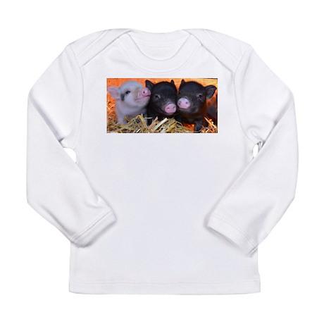 3 little micro pigs Long Sleeve Infant T-Shirt