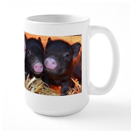 3 little micro pigs Large Mug