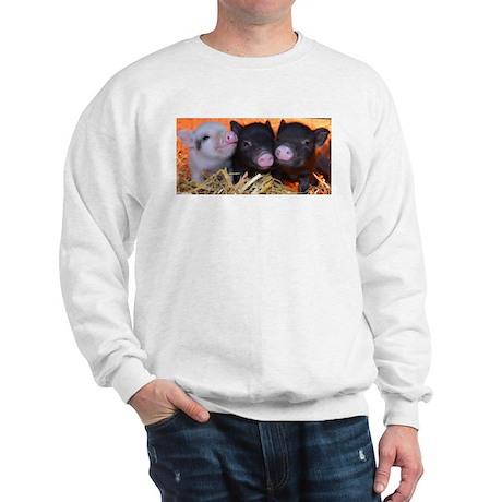3 little micro pigs Sweatshirt
