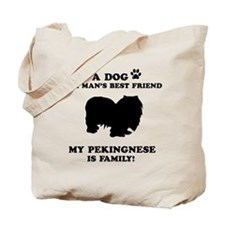 Pekingnese Dog Breed Designs Tote Bag