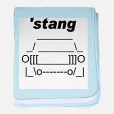 ASCII stang front.png baby blanket