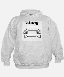 ASCII stang front.png Hoodie
