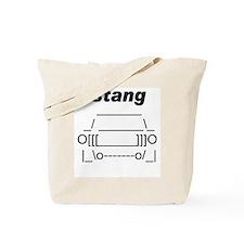 ASCII stang front.png Tote Bag