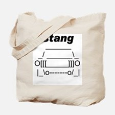 ASCII stang front.png Tote Bag