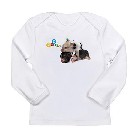 micro pigs sleeping Long Sleeve Infant T-Shirt