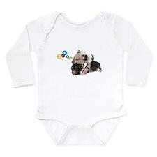 micro pigs sleeping Long Sleeve Infant Bodysuit
