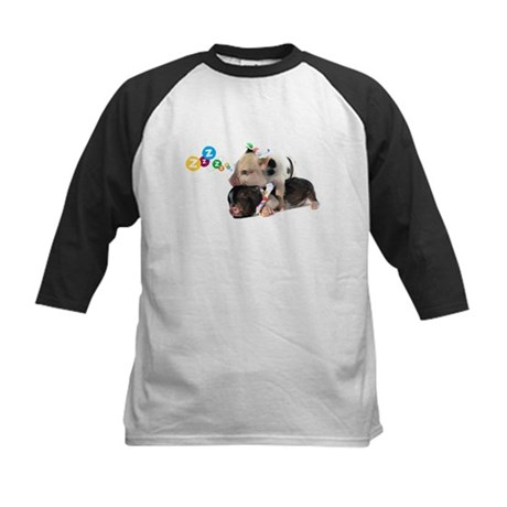 micro pigs sleeping Kids Baseball Jersey