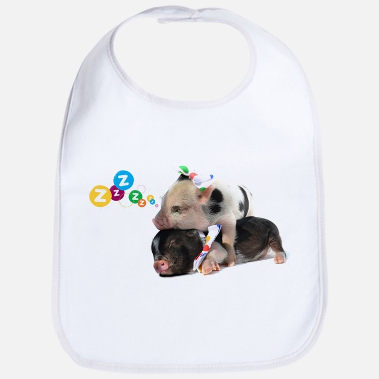 micro pigs sleeping Bib