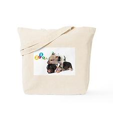micro pigs sleeping Tote Bag