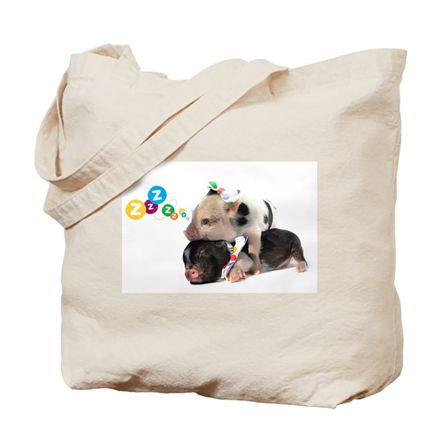 micro pigs sleeping Tote Bag by listing-store-59679680