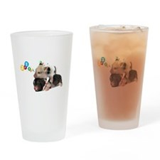 micro pigs sleeping Drinking Glass