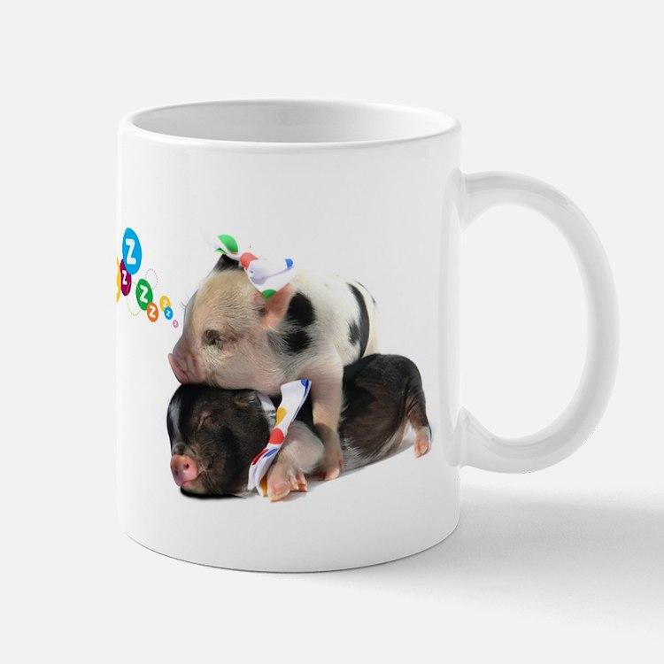 micro pigs sleeping Mug