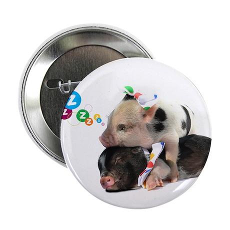 "micro pigs sleeping 2.25"" Button"