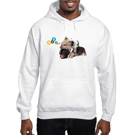 micro pigs sleeping Hooded Sweatshirt