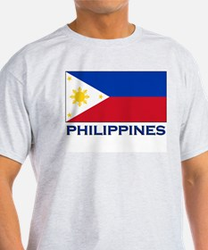 Philippines Flag Stuff Ash Grey T-Shirt