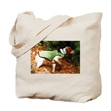 Brittany Spaniel Pointing Tote Bag