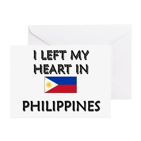 I Left My Heart In Philippines Greeting Cards (Pac