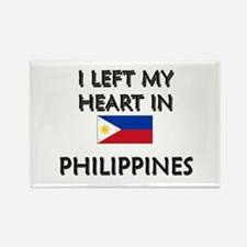 I Left My Heart In Philippines Rectangle Magnet