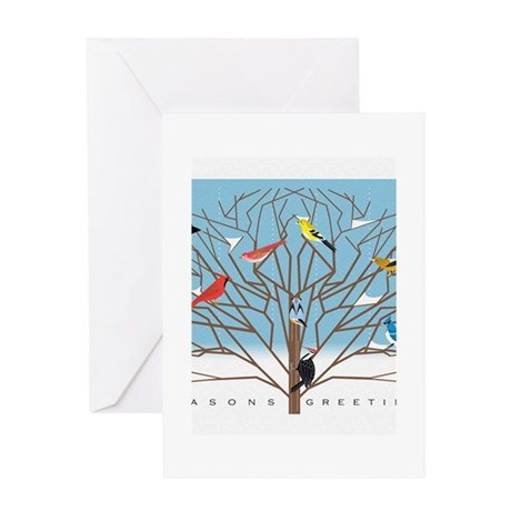 WINTER BIRDS Greeting Cards