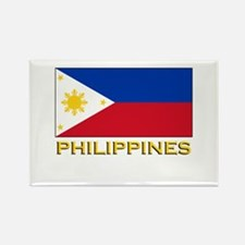 Philippines Flag Gear Rectangle Magnet