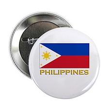 Philippines Flag Gear Button