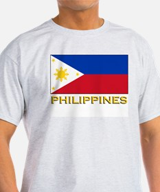 Philippines Flag Gear Ash Grey T-Shirt