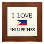 I Love Philippines Framed Tile