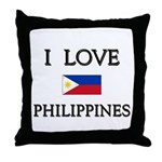 I Love Philippines Throw Pillow