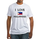 I Love Philippines Fitted T-Shirt
