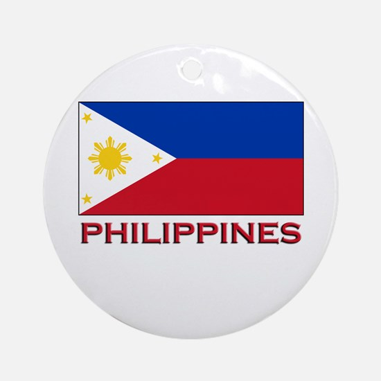 Philippines Flag Merchandise Ornament (Round)