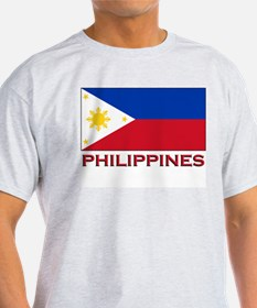 Philippines Flag Merchandise Ash Grey T-Shirt
