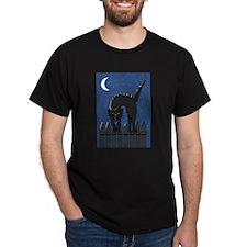Spooked Black Cat T-Shirt