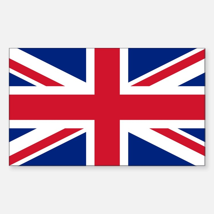 Union Jack Sticker (Rectangle)