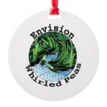 Envision Whirled Peas Round Ornament