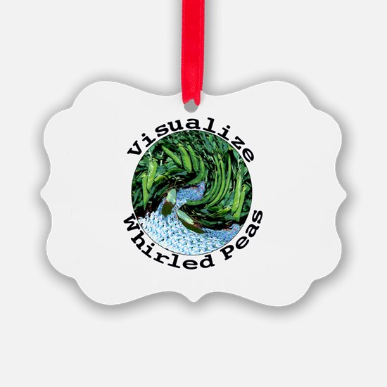 Visualize Whirled Peas Ornament