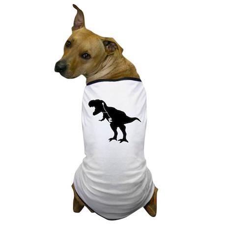 Cool dancing mp3 T-REX dinosaur design Dog T-Shirt